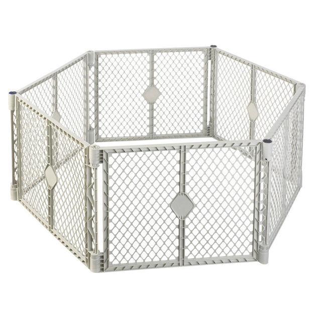 "Picture of North States Pet Superyard XT Gate 6 panels White 30"" x 26"""