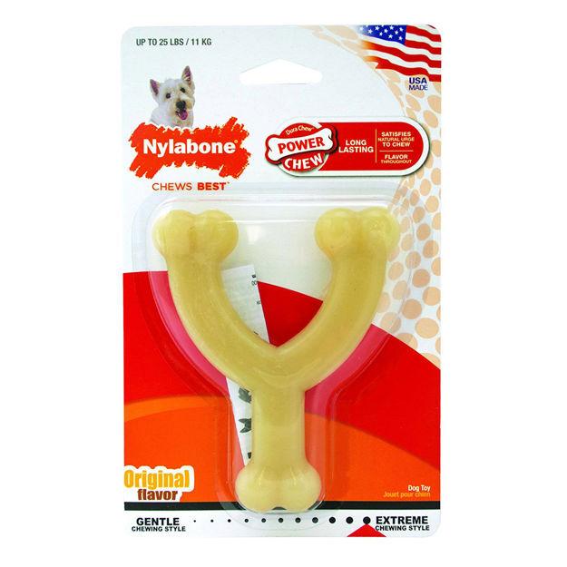 "Picture of Nylabone Dura Chew Wishbone Dog Chew 4.5"" x 3.8"" x 1"""