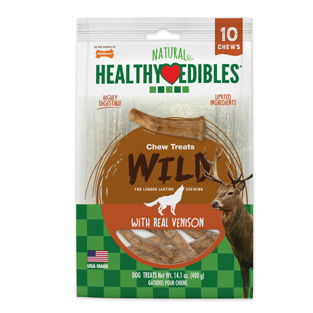 Picture of Nylabone Healthy Edibles Antler Real Venison 10 count
