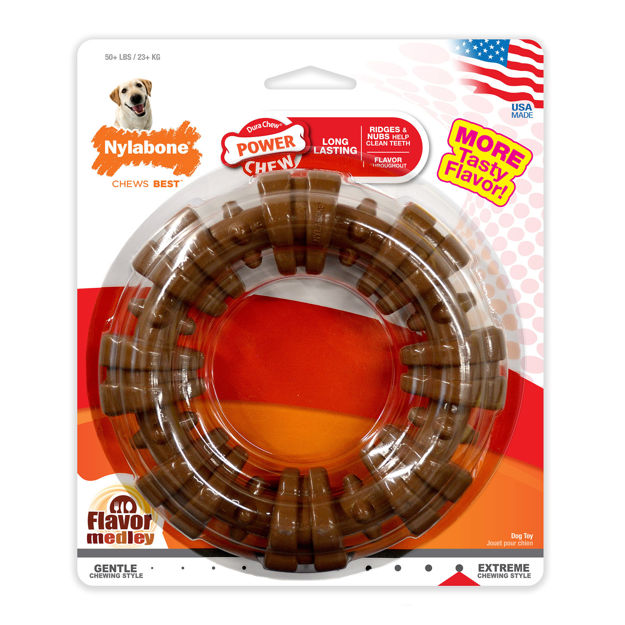 Picture of Nylabone Power Chew Textured Ring Souper