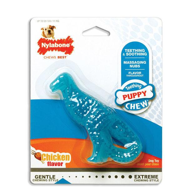 Nylabone Puppy Chew Dental Dino Chew Dog Toy Regular