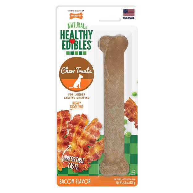 Nylabone Healthy Edibles Longer Lasting Bacon Treats Giant 1 count