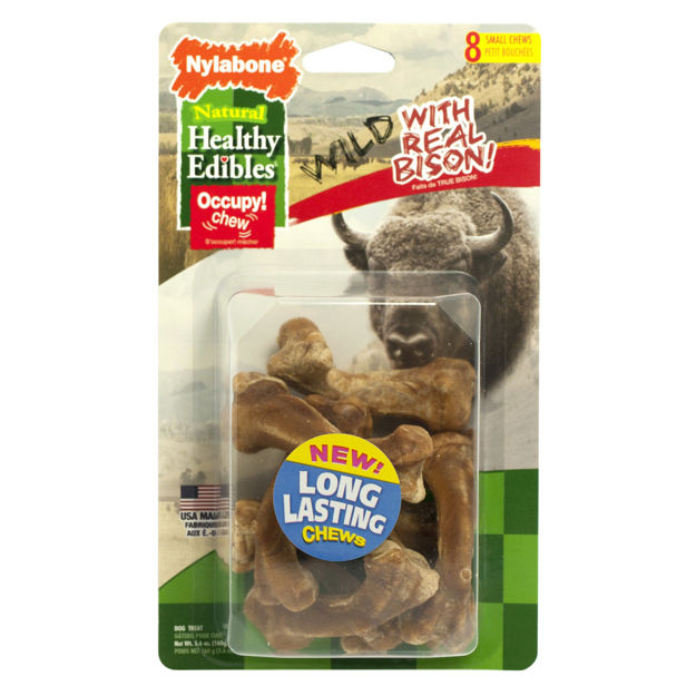 Picture of Nylabone Healthy Edibles Wild Chew Treats Bison Small 8 count