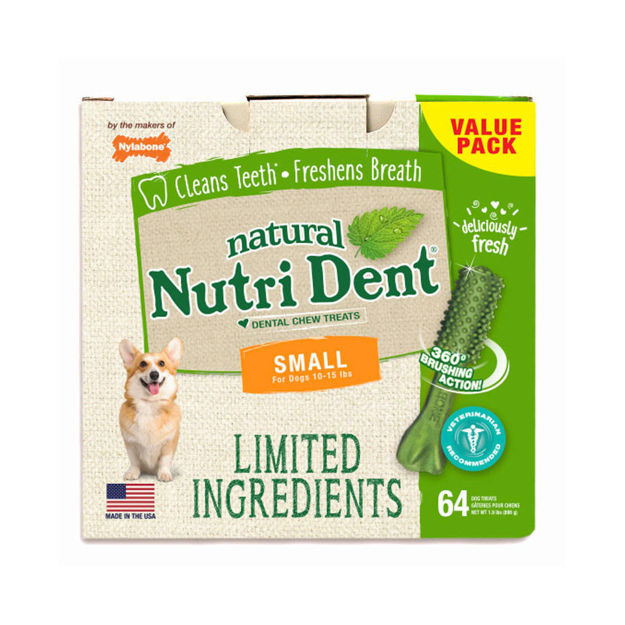 Picture of Nylabone Nutri Dent Limited Ingredient Dental Chews Fresh Breath Small 64 count
