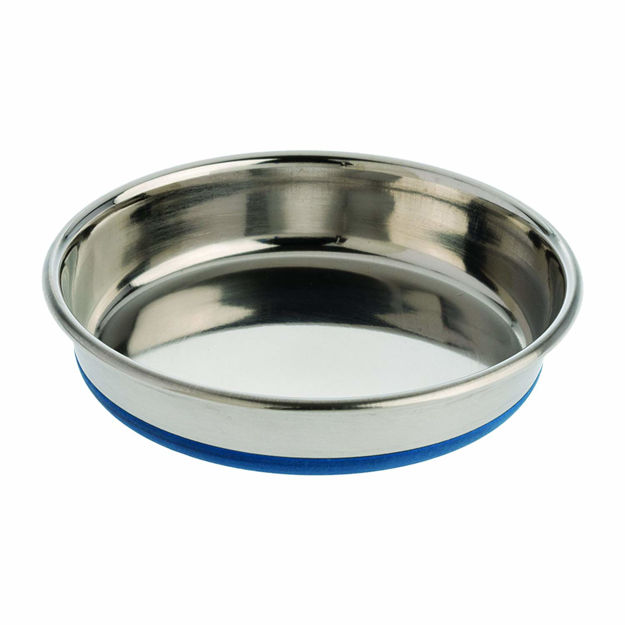 "Picture of Our Pets Durapet Premium Rubber-Bonded Stainless Steel Dish 1.75 cup Silver 6.25"" x 6.25"" x 1.25"""