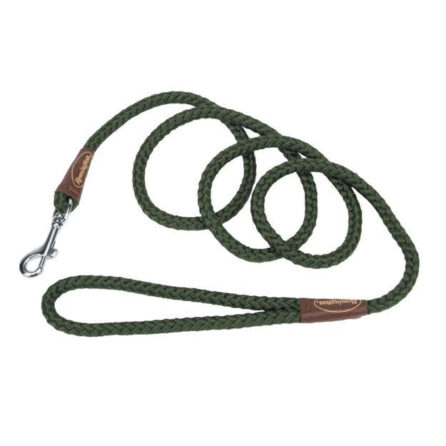 "Remington Braided Rope Dog Snap Leash 6 Feet Green 72"" x 1"" x 1"""