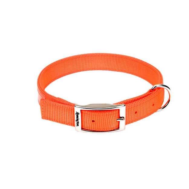 "Picture of Remington Double-Ply Reflective Hound Dog Collar Orange 22"" x 1"" x 0.2"""