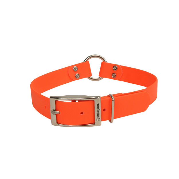 """Picture of Remington Waterproof Hound Dog Collar with Center Ring Orange 20"""" x 1"""" x 0.2"""""""