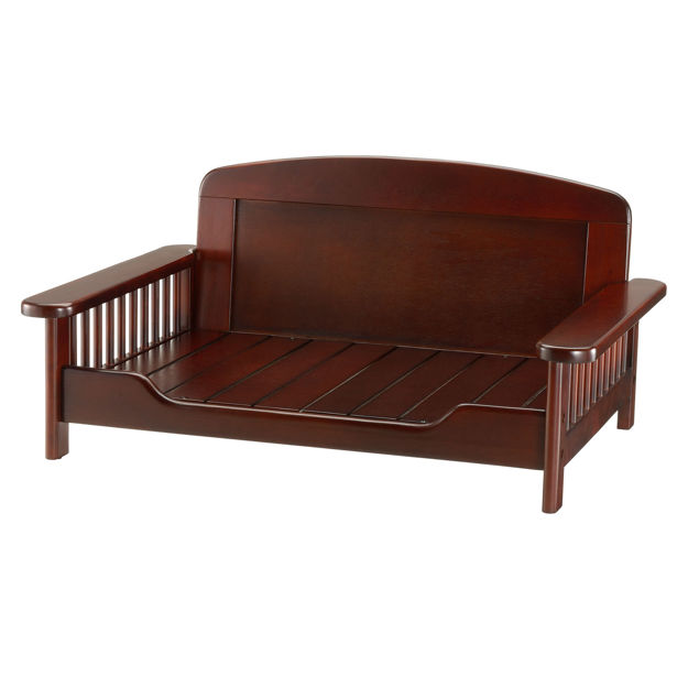 "Richell Elegant Wooden Pet Bed Dark Brown 35.4"" x 24.4"" x 16.9"""