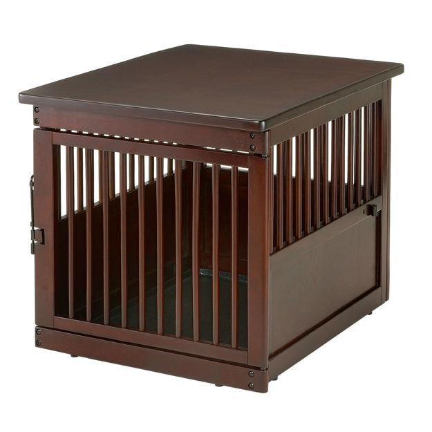 "Richell Wooden End Table Dog Crate Medium Dark Brown 31.1"" x 25"" x 24"""
