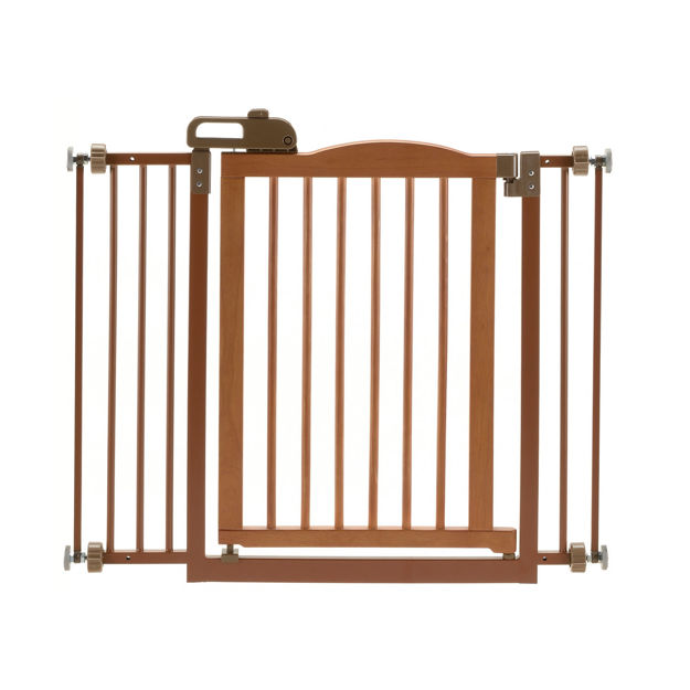 """Picture of Richell One-Touch Pressure Pet Gate II Autumn Matte 32.1"""" - 36.4"""" x 2"""" x 30.5"""""""