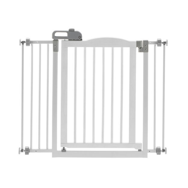 """Picture of Richell One-Touch Pressure Pet Gate II White 32.1"""" - 36.4"""" x 2"""" x 30.5"""""""