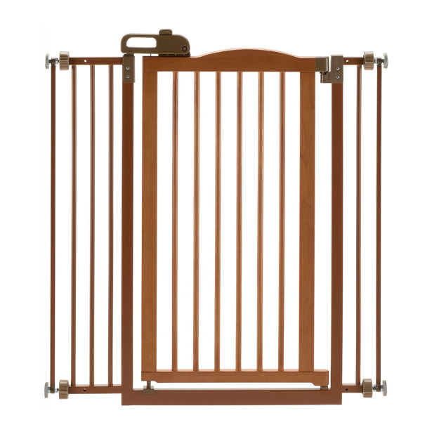 """Picture of Richell Tall One-Touch Pressure Mounted Pet Gate II Autumn Matte 32.1"""" - 36.4"""" x 2"""" x 38.4"""""""