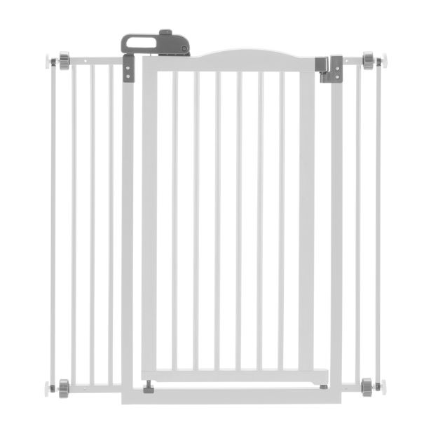 "Picture of Richell Tall One-Touch Pressure Mounted Pet Gate II White 32.1"" - 36.4"" x 2"" x 38.4"""