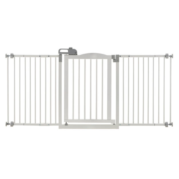 """Richell One-Touch Wide Pressure Mounted Pet Gate II White 32.1"""" - 62.8"""" x 2"""" x 30.5"""""""