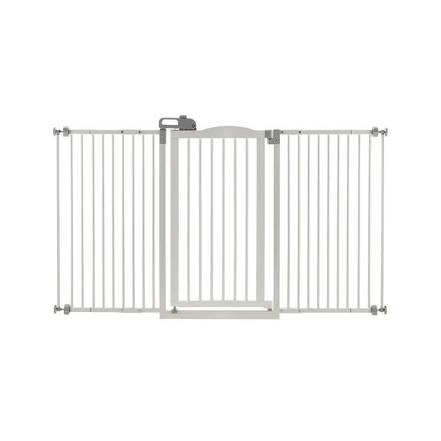 """Picture of Richell Tall and Wide One-Touch Pressure Mounted Pet Gate White 32.1"""" - 62.8"""" x 2"""" x 38.4"""""""