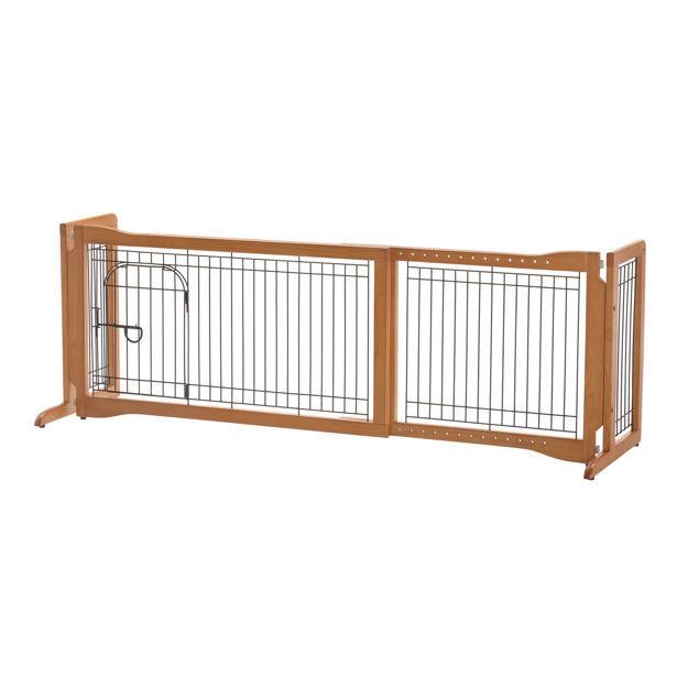 """Richell Pet Sitter Freestanding Pet Gate Plus Autumn Matte 38.2""""-59.8"""" x 18.5"""" x 20.9"""""""
