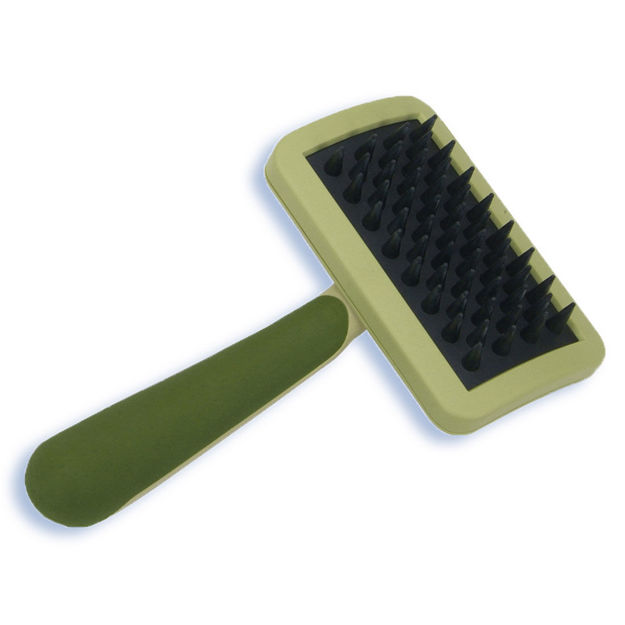 "Picture of Safari Cat Massage Brush Green 6.5"" x 3.2"" x 2"""