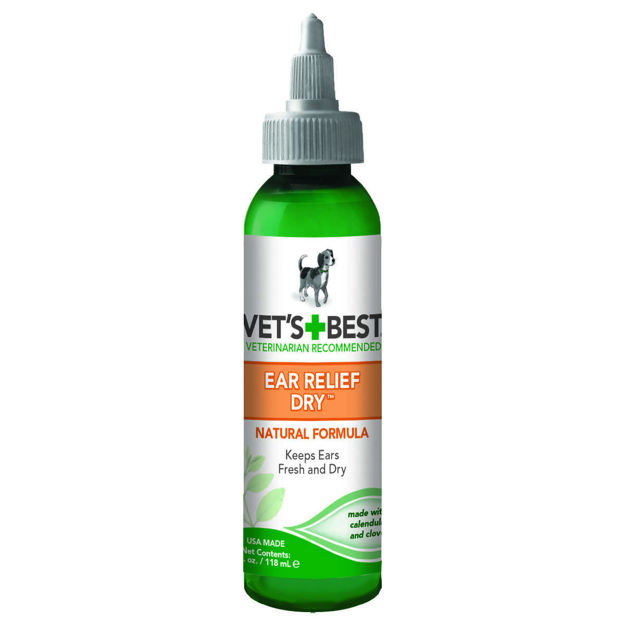 "Picture of Vet's Best Dog Dry Ear Relief 4oz Green 1.5"" x 1.5"" x 5"""