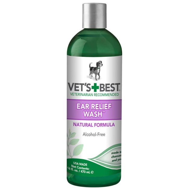 "Picture of Vet's Best Dog Ear Relief Wash 16oz Green 2.5"" x 2.5"" x 8.5"""