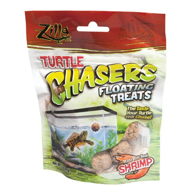 """Zilla Turtle Chasers Floating Treats Shrimp 2 ounces 5.125"""" x 1.75"""" x 6.5"""""""