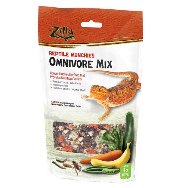 "Picture of Zilla Reptile Munchies Omnivore 4 ounces 5.875"" x 2.75"" x 9.5"""