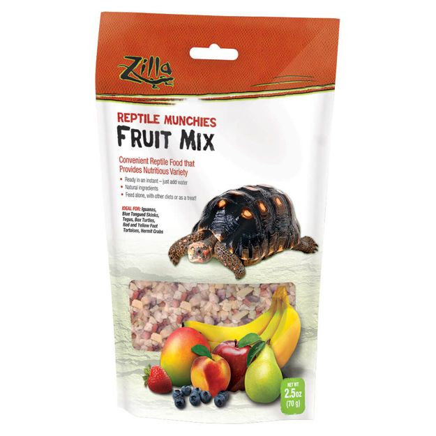 "Picture of Zilla Reptile Munchies Fruit 2.5 ounces 5.875"" x 2.75"" x 9.5"""