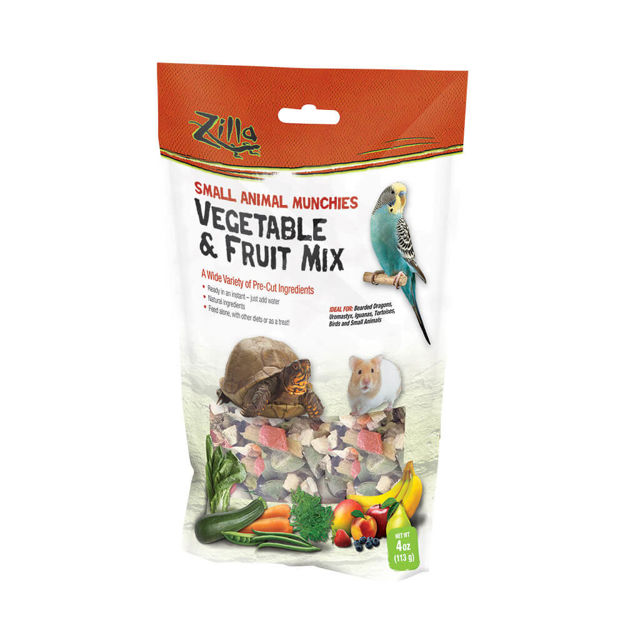 "Picture of Zilla Reptile Munchies Vegetable and Fruit 4 ounces 5.875"" x 2.75"" x 9.5"""