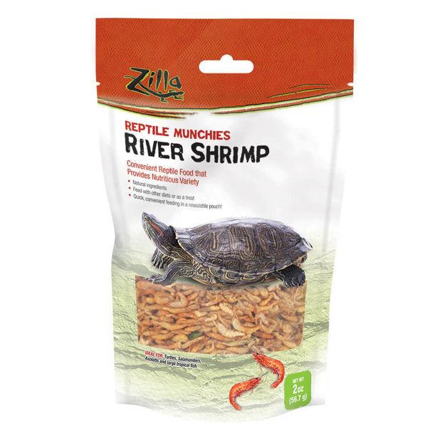 "Picture of Zilla Reptile Munchies River Shrimp 2 ounces 5.875"" x 2.75"" x 9.5"""