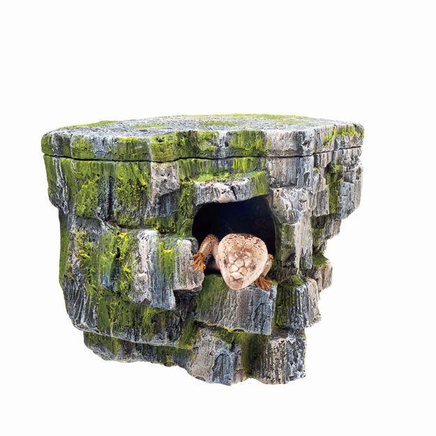 """Zilla Aquarium Décor Vertical Rock Cave 8.75"""" x 5.875"""" x 7.25"""""""