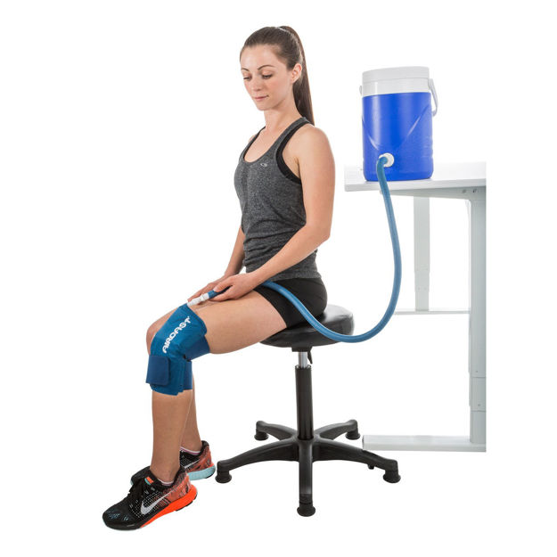 cryo cuff knee with gravity cooler