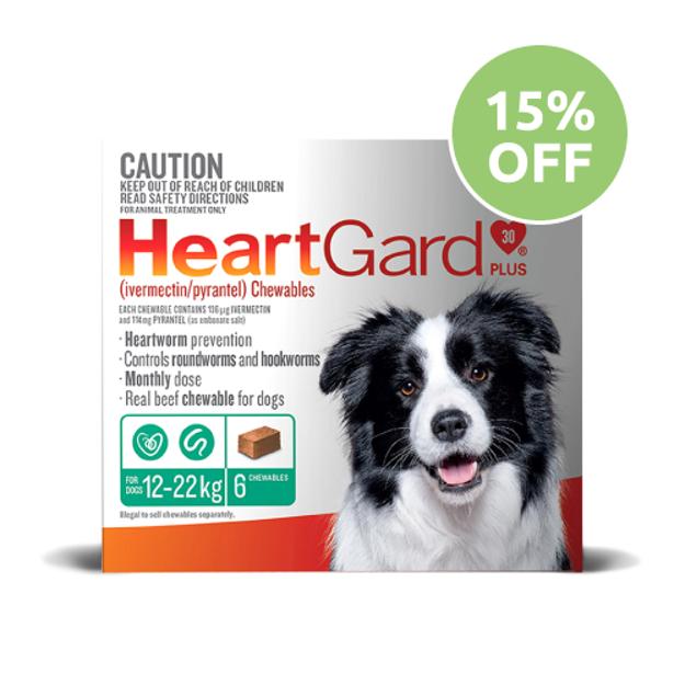 Heartgard Plus  Chewable Medium Dog (Green)