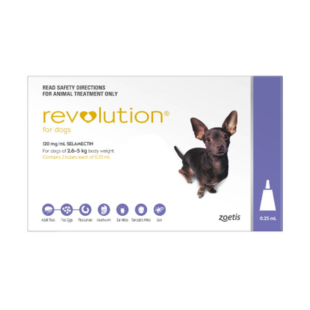 REVOLUTION FOR EX-SMALL DOGS (PURPLE)