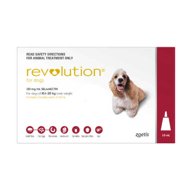 Picture of REVOLUTION FOR MEDIUM DOGS (RED)