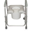 rolling commode basket 12 qt easy clean