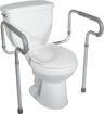 toilet safety frame/rail