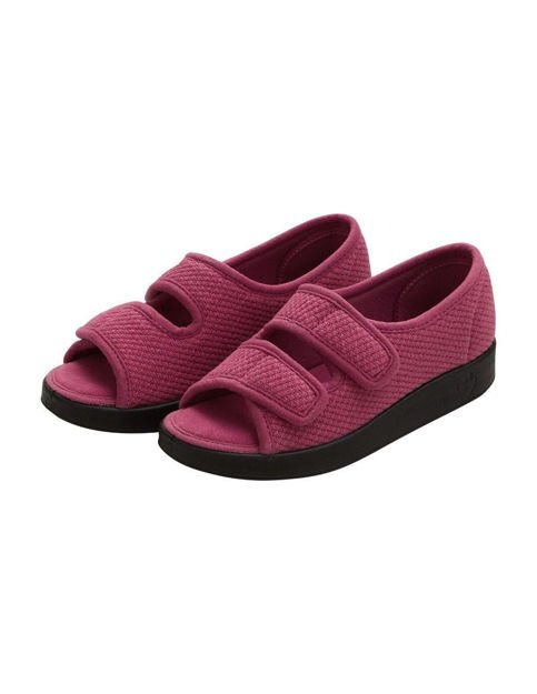 rose petal slippers for seniors extra wide